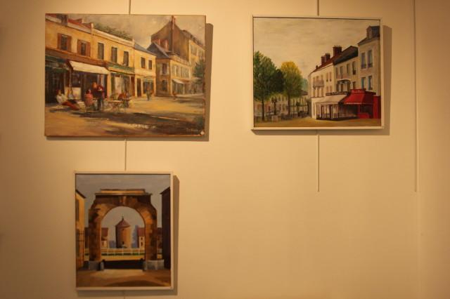 Expo Florian : travail sur le motif à Rambouillet (atelier C. Filhol)
