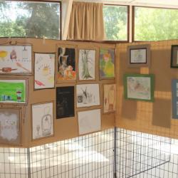 Quelques oeuvres de l'atelier enfants/ados de Gabriel