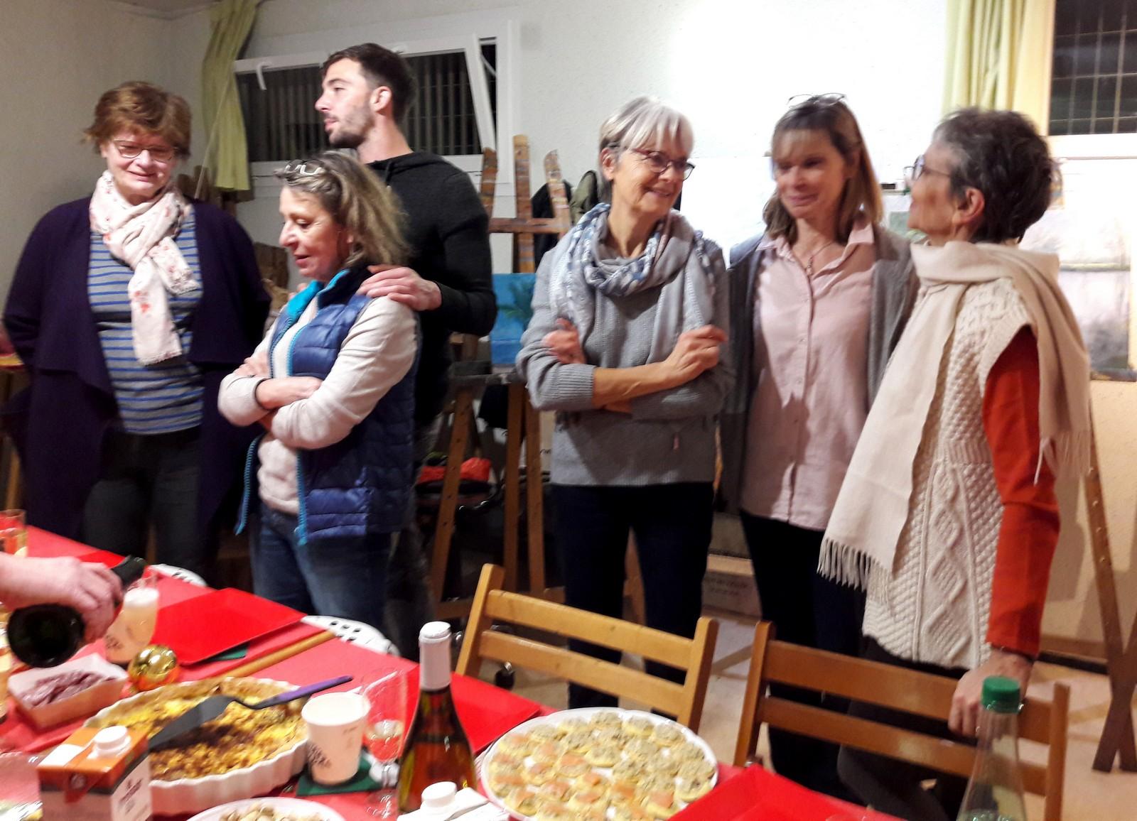 Le repas de Noël 2018 de l'atelier de Corinne