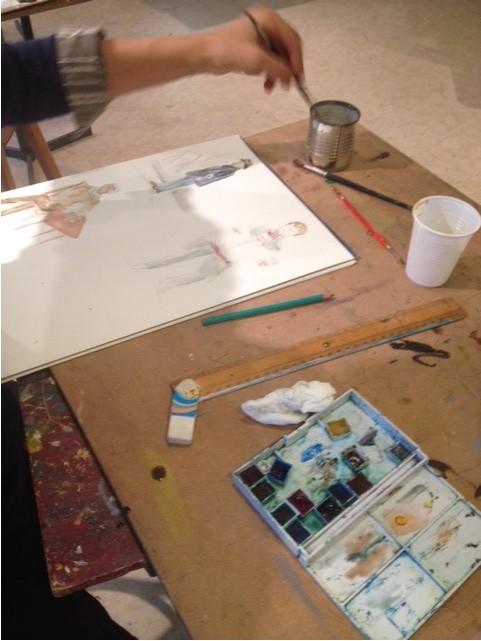 Atelier aquarelle 3eme annee 3
