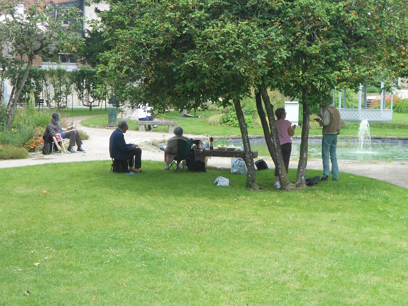 Derniers ateliers aquarelle de l'année : au parc du Roi de Rome (29 juin 2016)