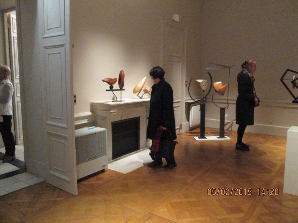 Au palais du Roi de Rome à la découverte de Shaftaï et A. Heitz Krantz en compagnie du sculpteur Frédéric Marquis (5 fév. 2015)