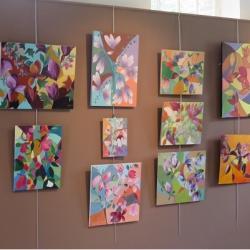 Atelier peinture de Corinne Filhol: exercice de couleurs !!!
