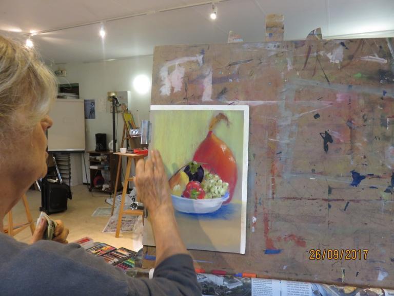 De la peinture au pastel