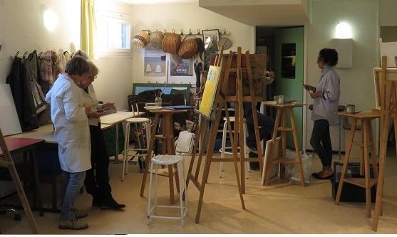 Atelier Peinture du jeudi après midi (de Corinne Filhol)