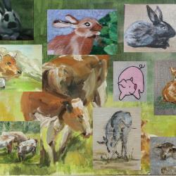 Les animaux de la ferme : suite des travaux des élèves