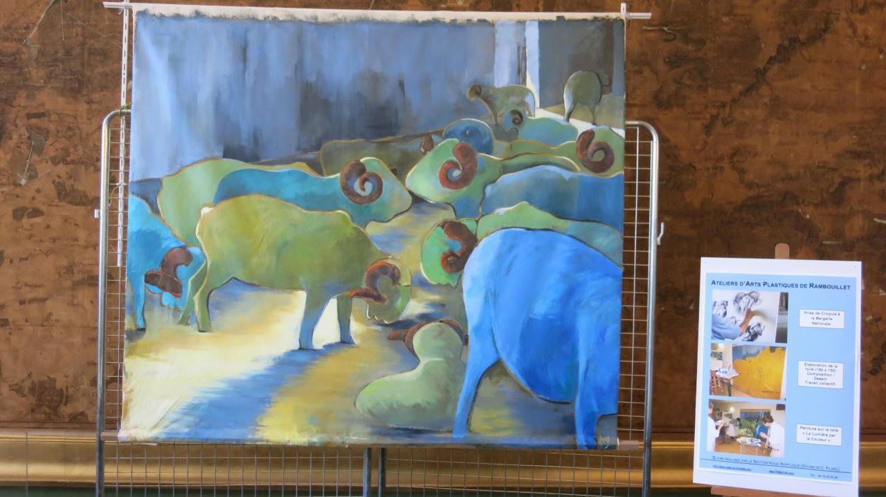 Honneurs à l'AAPR: sa fresque était au 1er plan dans la salle du Conseil !