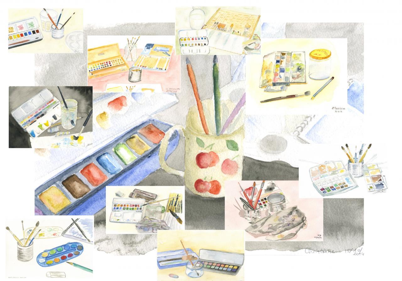 Patchwork boites de couleurs
