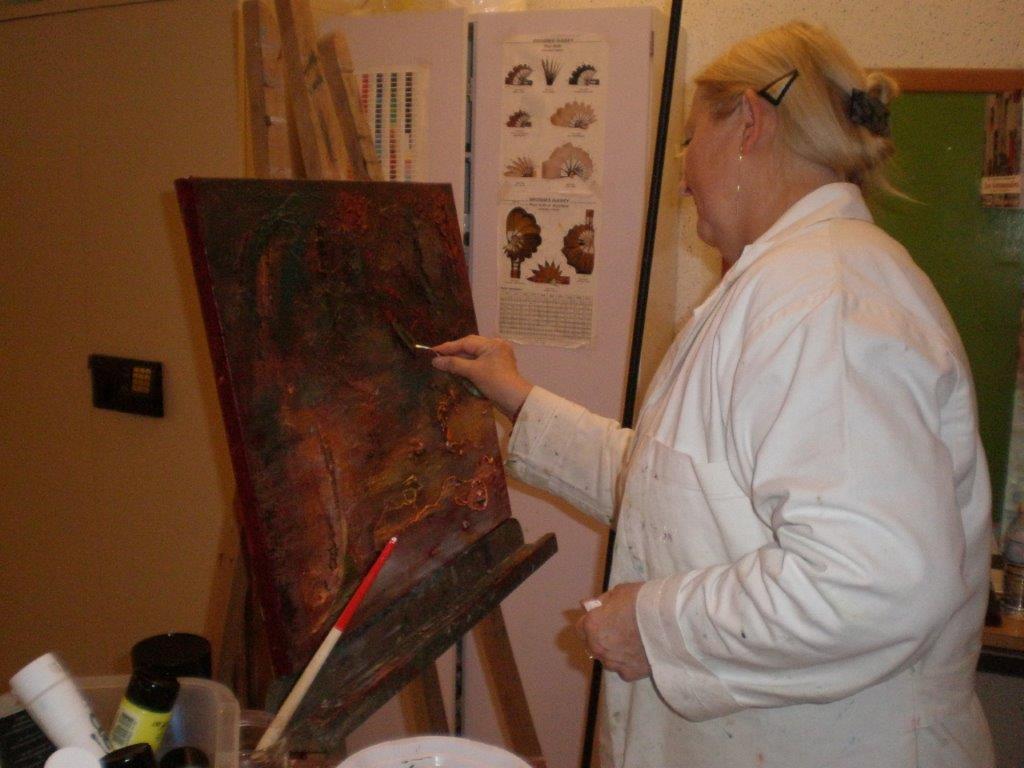 Nicole à l'atelier