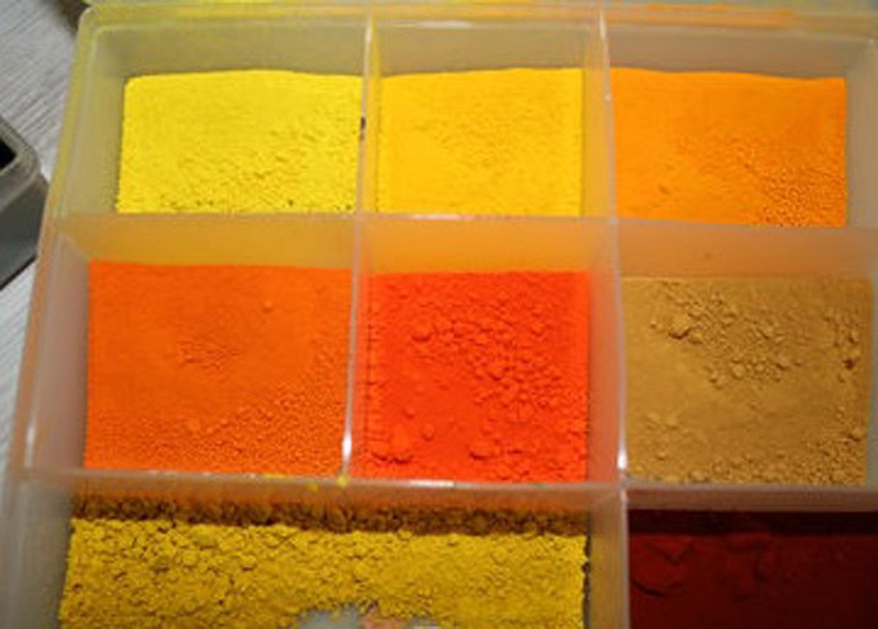 Peinture aux pigments et à l'oeuf