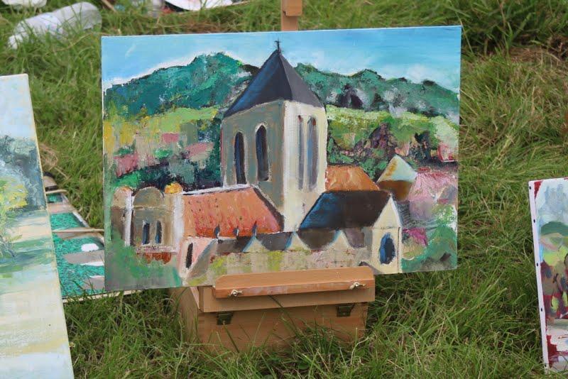 Atelier peinture en plein air: Vetheuil (juin 2016)
