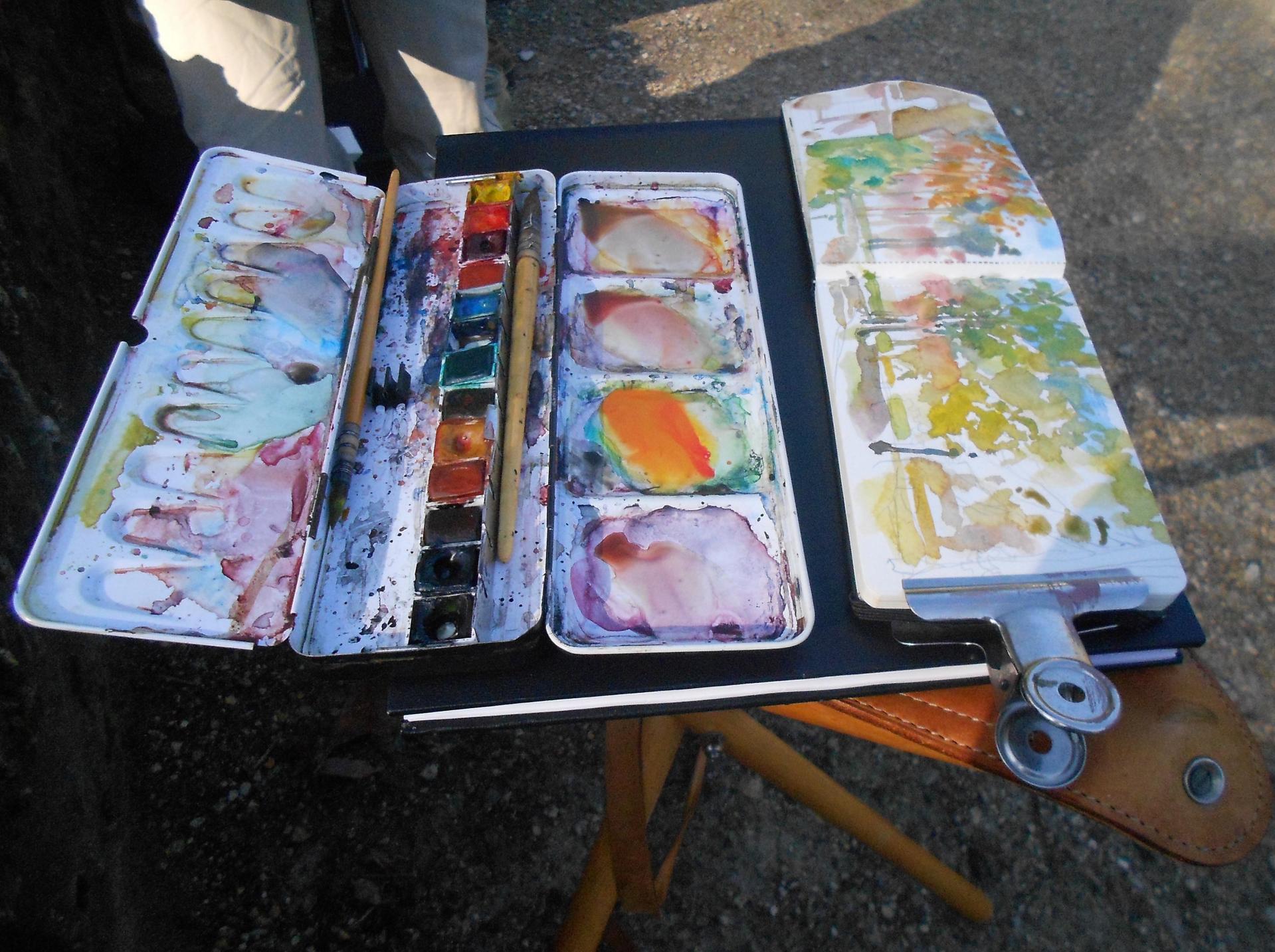 Les outils de l'aquarelliste